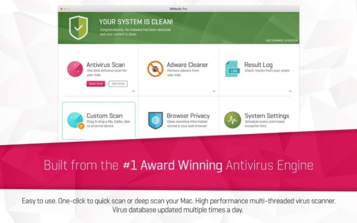 Antivirus BitMedic Pro 3.1.1 For Mac OSX