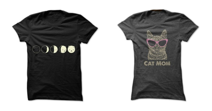Fun T-Shirts for the Crazy Cat Lady and Men