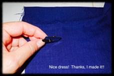 I used my blind hem foot to under stitch the slash pocket.
