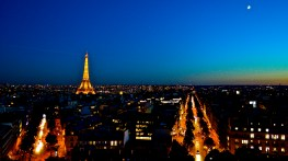 From the Arc de Triomphe 2016, twilight