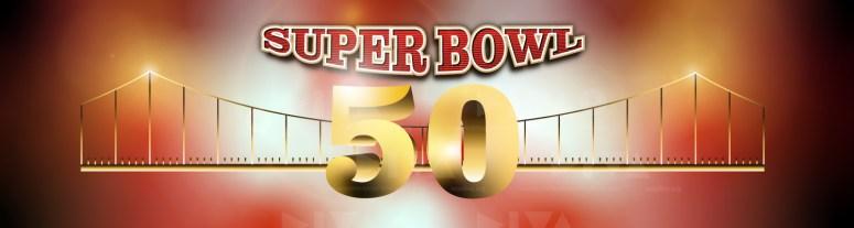 alternate 2016 Super Bowl 50 San Francisco logo design: Golden Gate Bridge/yard lines suspension cables