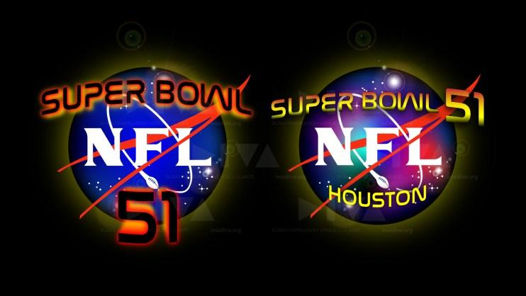 alternate 2017 Super Bowl 51 Houston logo design: NASA