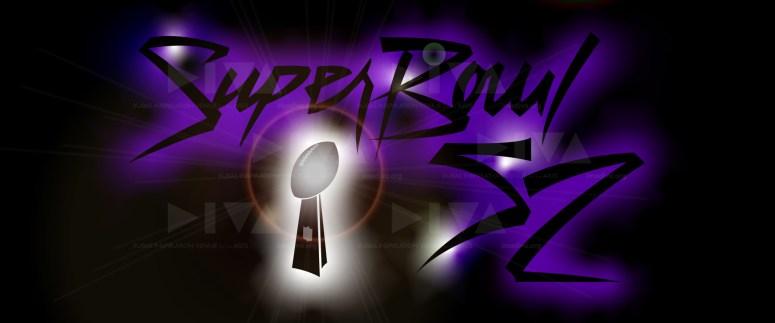 alternate 2018 Super Bowl 52 Minneapolis logo design: Prince Purple Rain