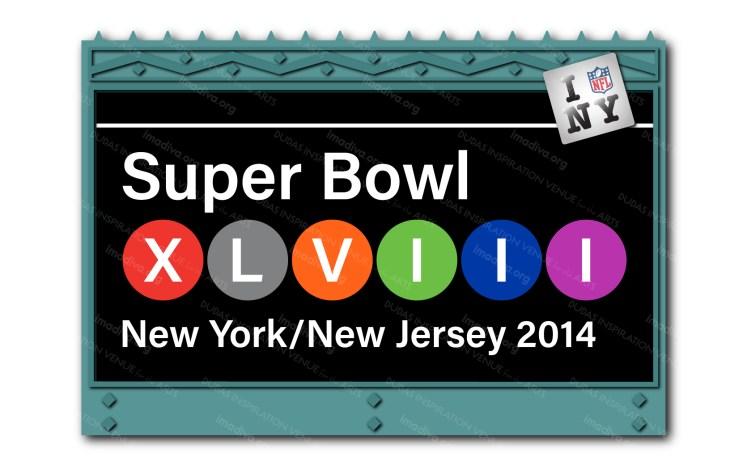 alternate 2014 Super Bowl 48 NY/NJ logo design: subway sign