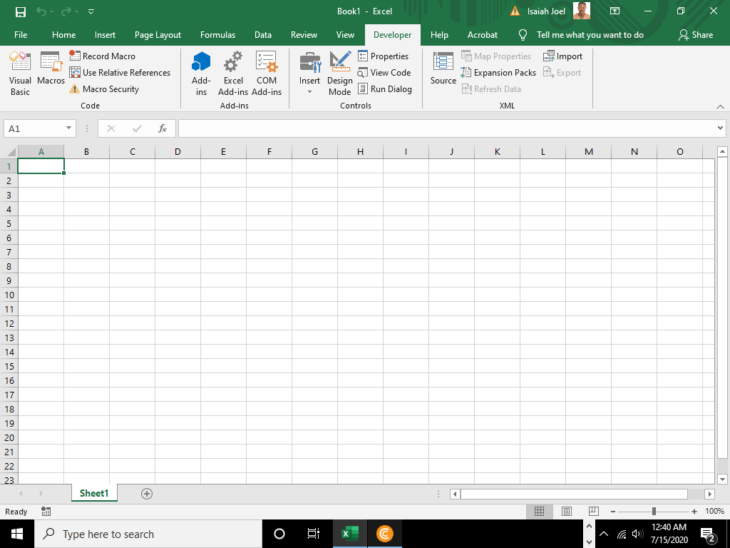 How to Activate Developer option in Excel