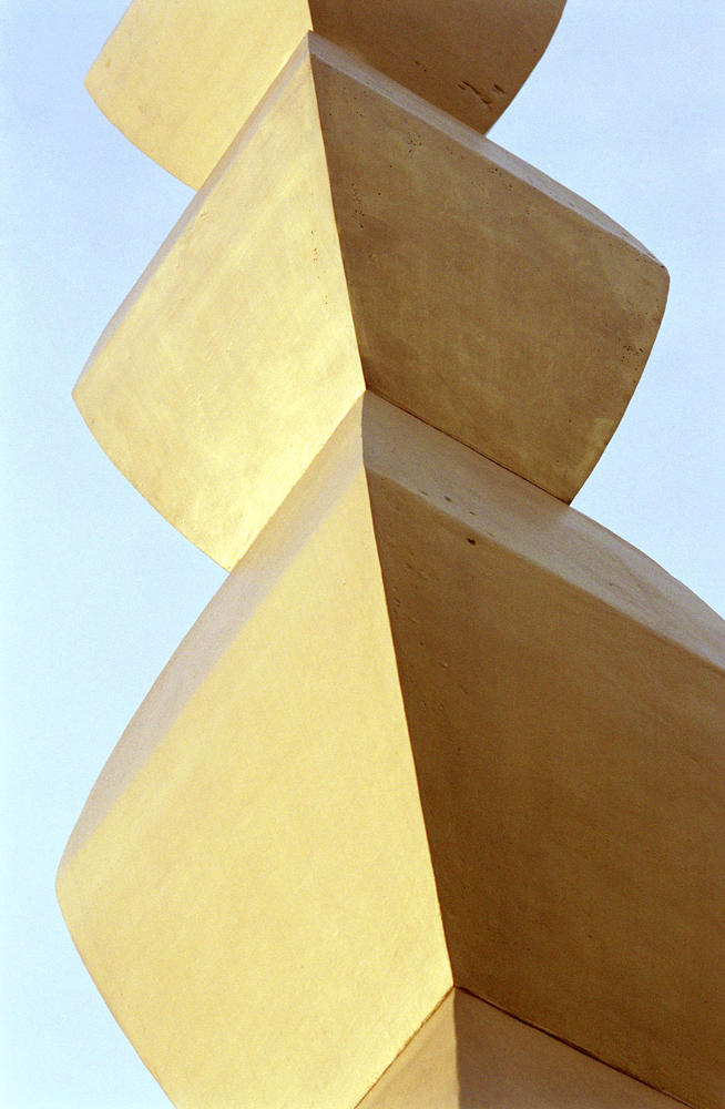 Country: Romania Site: Brancusi Ensemble Caption: Modules in the Endless Column, after conservation Image Date: February 2001 Photographer: Kael Alford/WMF Provenance: Site visit Original: from digital collection