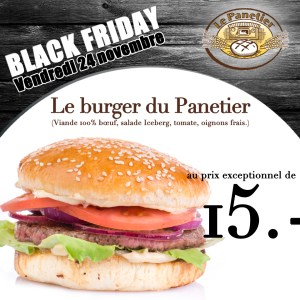 Visuel pour la Black Friday du Panetier (Manor)