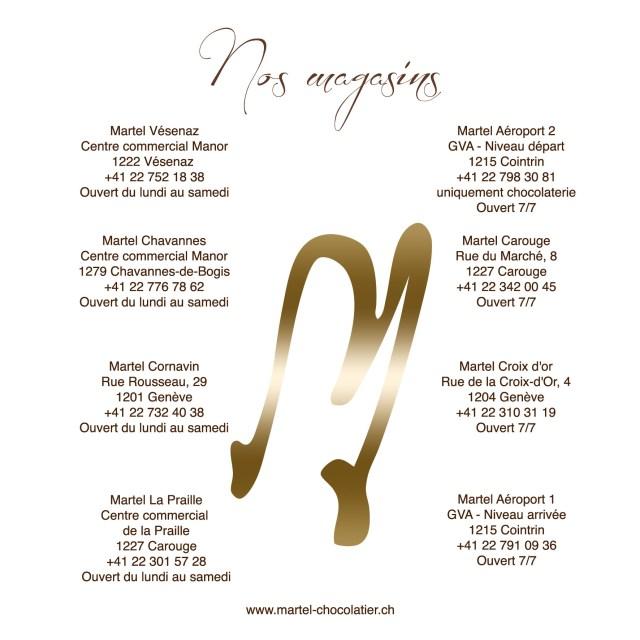Liste des magasins Martel