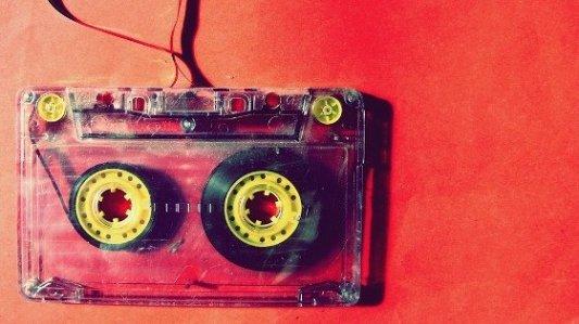 Vieja cinta de audio.