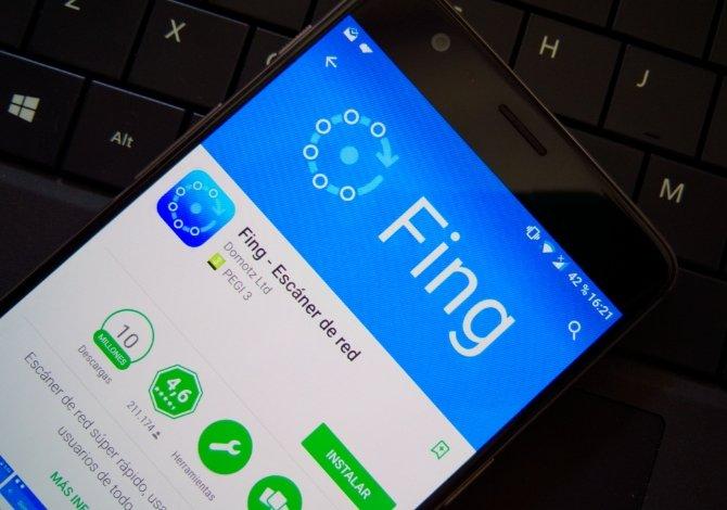 Aplicación de Fing en la Google Play Store