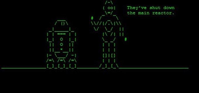 La Guerra de las Galaxias en ASCII