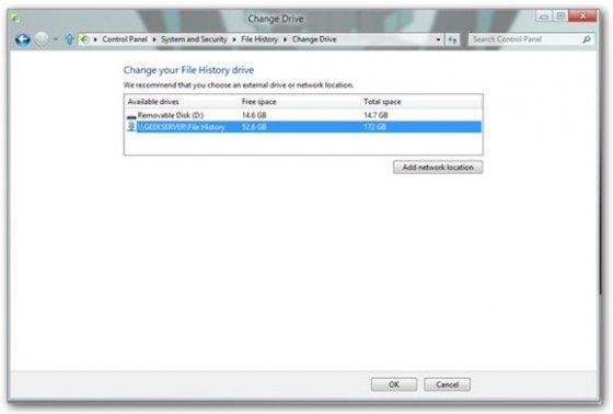Cómo usar el historial de archivos de W8 - 5
