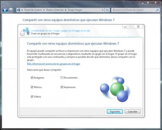 Grupo Hogar en Windows 7 4