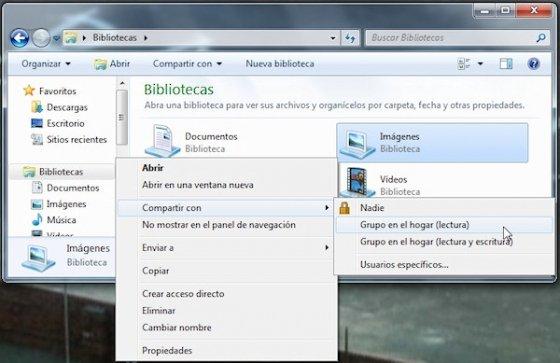 Grupo Hogar en Windows 7 6