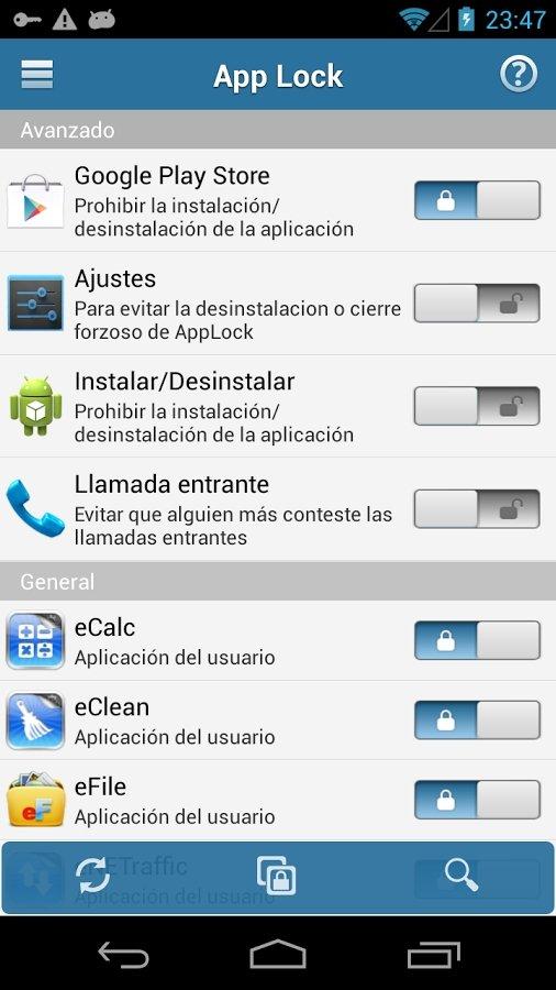Bloquea el acceso a cualquier aplicación de Android
