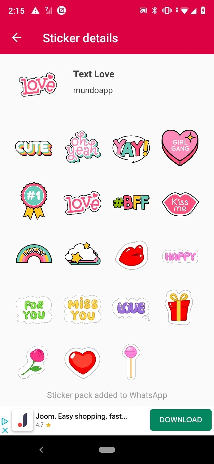 Love Stickers For Whatsapp 4.1.4 - Download for Android APK Free
