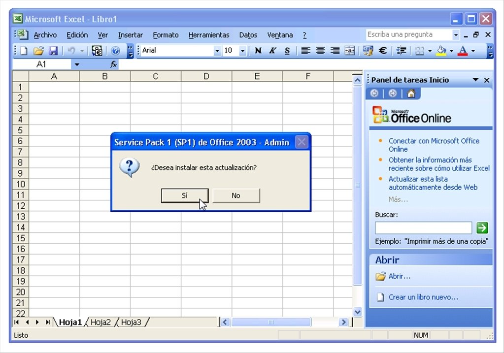Office 2003 SP1 Service Pack 1 Download For PC Free