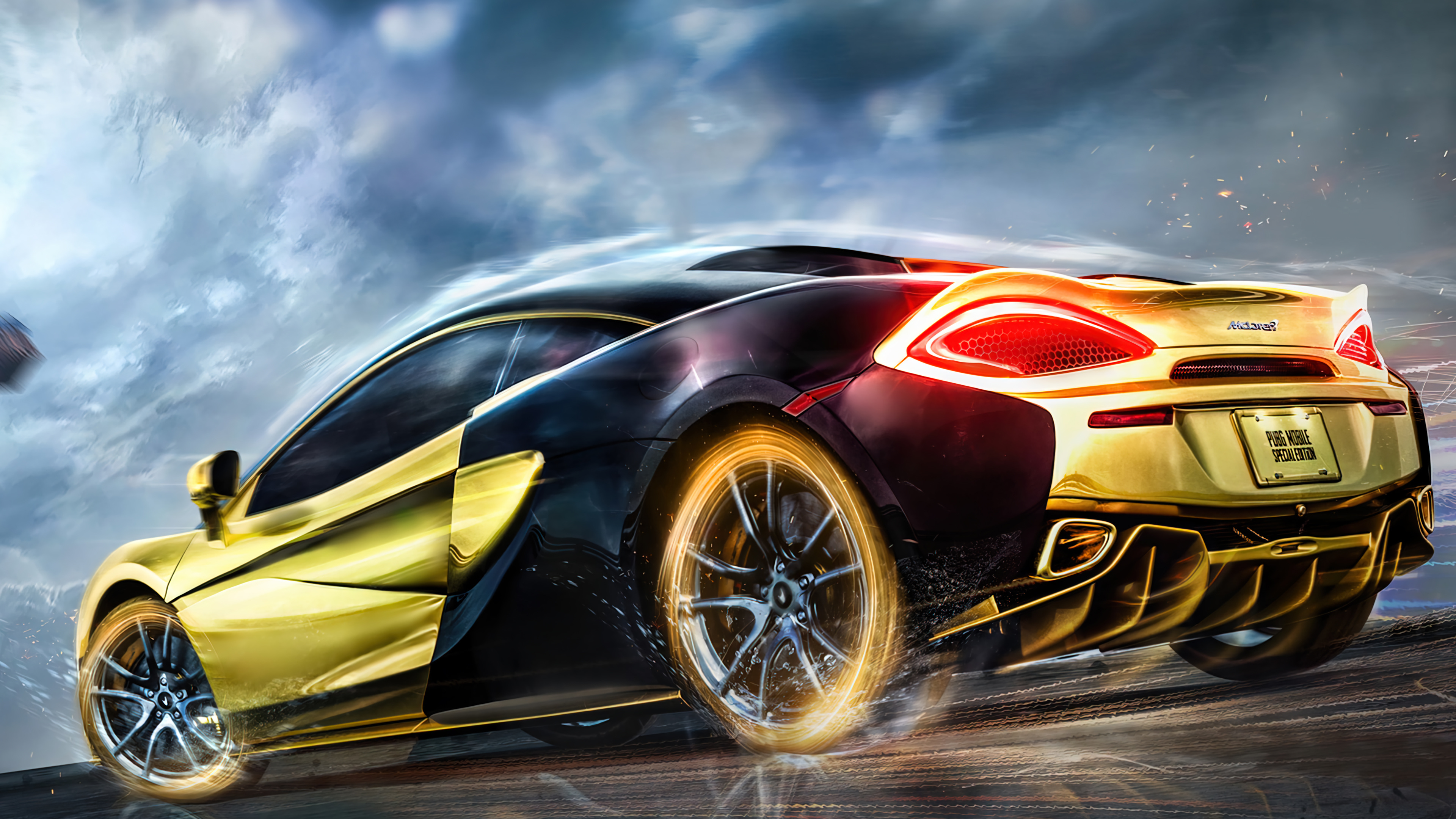 Download the image in uhd 4k 3840x2160, full hd 1920x1080 sizes for macbook and desktop backgrounds or in vertical hd sizes for android phones and iphone 6, 7, 8, x. Pubg Mobile Gold Mclaren Sports Car Wallpaper 4k Pc Desktop 7670a