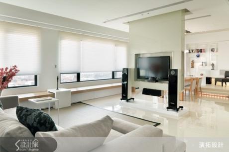 【裝潢Q&A】我家坪數不大。電視牆怎樣設計才好看又不佔空間?-設計家 Searchome