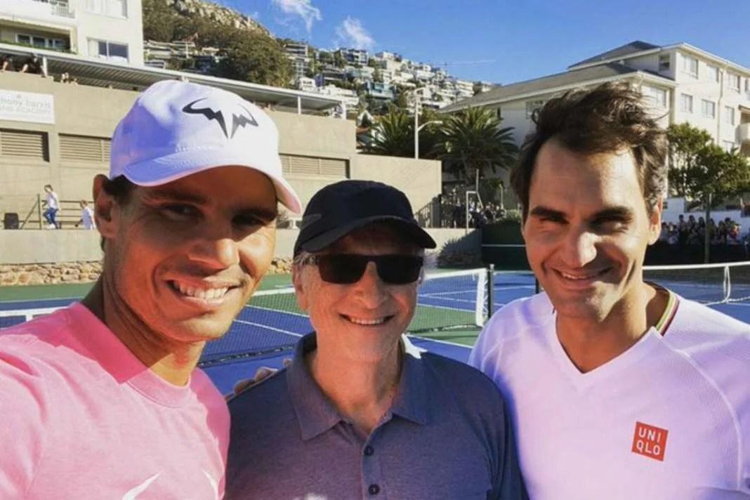 Rafa Nadal, Bill Gates y Roger Federer