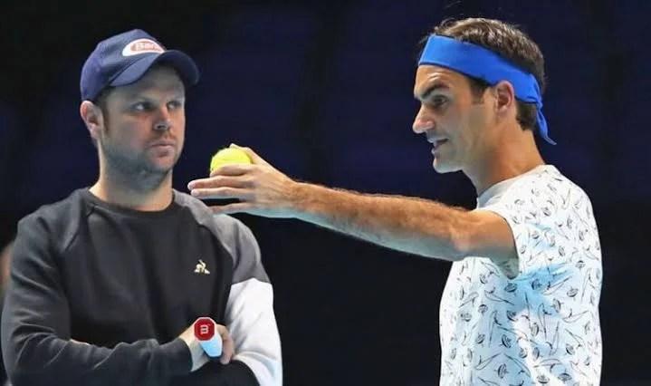 Roger Federer y Severin Luthi