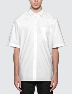 Raf Simons Short Sleeved Shirt With Back Print