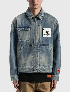Heron Preston Worker Logo Patch Denim Jacket