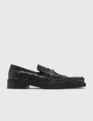 Martine Rose Snake-embossed Leather Loafer