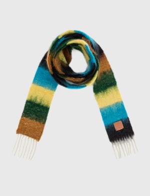 Loewe Striped Scarf In Mohair