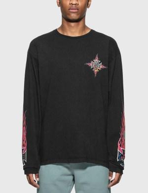 Rhude Neon Flame Long Sleeve T-Shirt
