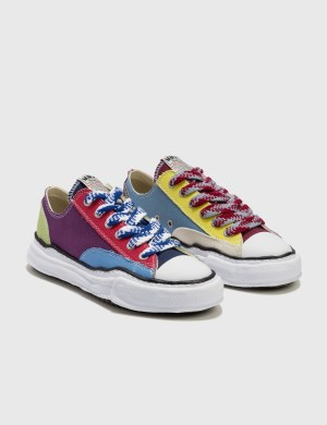 Maison Mihara Yasuhiro Original Sole Multicolor Canvas Low Cut Sneaker