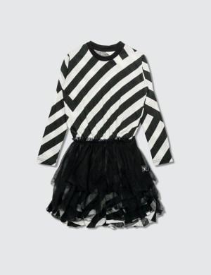 NUNUNU Striped Tulle Dress