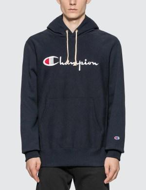 Champion Reverse Weave Big Script Hooded Sweatshirt