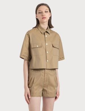 KOCH Cropped Eyelette Shirt