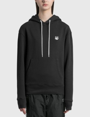 Maison Kitsune Grey Fox Head Patch Classic Hoodie