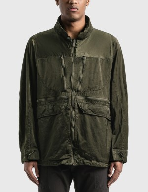 White Mountaineering Shrinked Contrasted Jacket