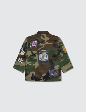 Hey Babe Camo Mash-up Jacket