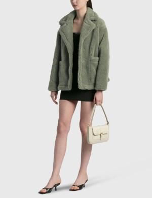 BY FAR Miranda Cream Croco Embossed Leather Bag