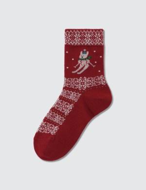 Tabio Kids Jq Wind Rabbit Skier Socks