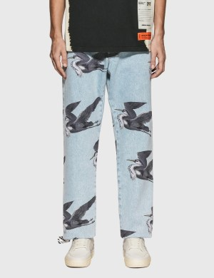 Heron Preston Print Jeans