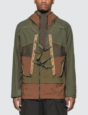 White Mountaineering Layered Hooded Jacket