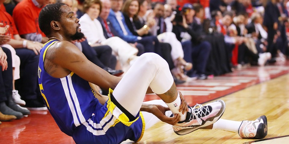UPDATE: NBA 季後賽 2019 − Warriors 球員 Kevin Durant 確認為阿基里斯腱受傷 | HYPEBEAST