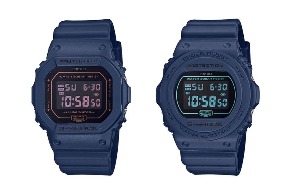 元祖藍-G-Shock 推出 Tonal 海軍藍 DW-5600 及 DW-5700   HYPEBEAST