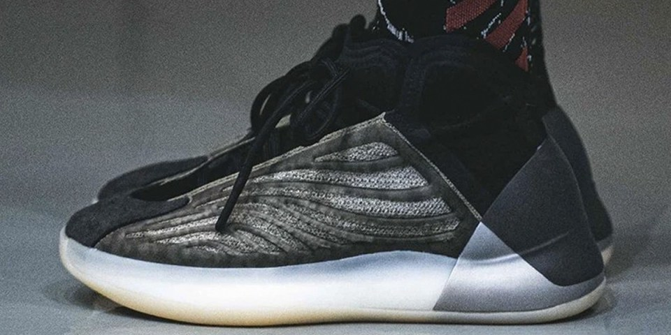 adidas YEEZY 籃球鞋 QUANTUM 最新配色「Barium」上腳高清圖輯曝光   HYPEBEAST
