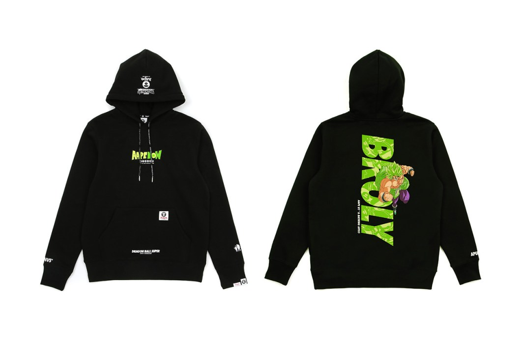 Dragon Ball Super Broly AAPE Capsule Release Info Date Hoodie T shirt white black goku vegeta frieza broly BY A BATHING APE