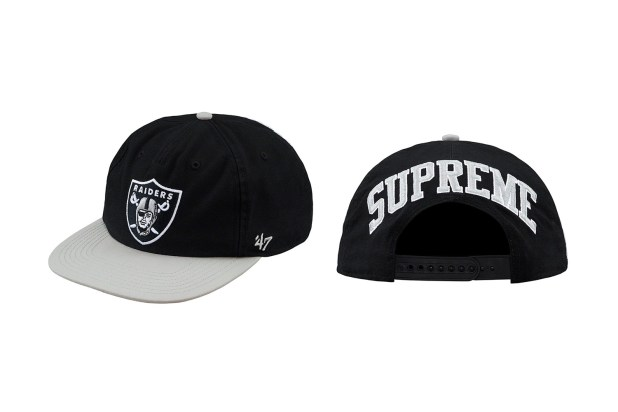 Supreme Raiders NFL Spring Collection  caps hats shirts hoodies football NFL sports New York Oakland California