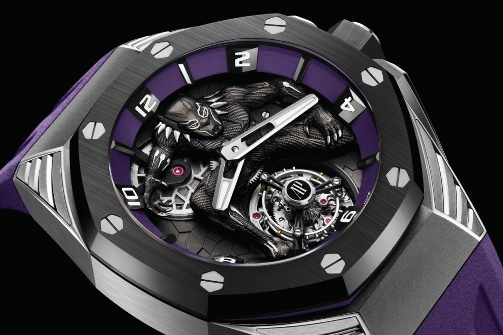 First Watch From Audemars Piguet Partnership With Marvel is a Hand Painted Titanium Flying Tourbillon Royal Oak Concept