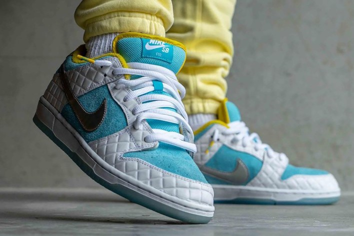 ftc nike sb dunk low white lagoon pulse metallic silver speed yellow DH7687-400 release date info store list buying guide photo price