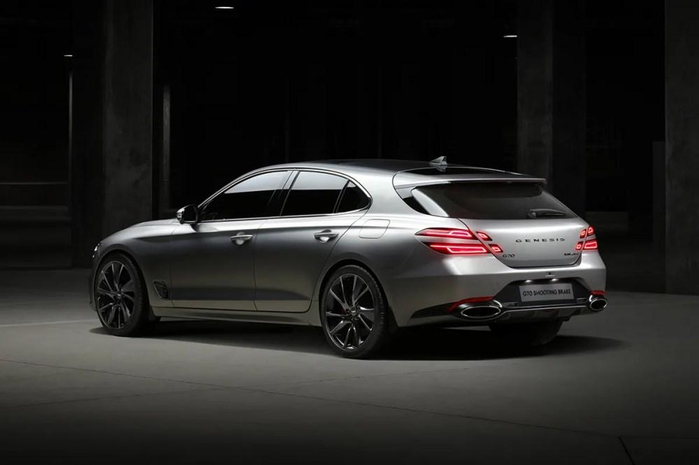 genesis hyundai g70 shooting brake europe market design model luxury sporty athletic car preview teaser