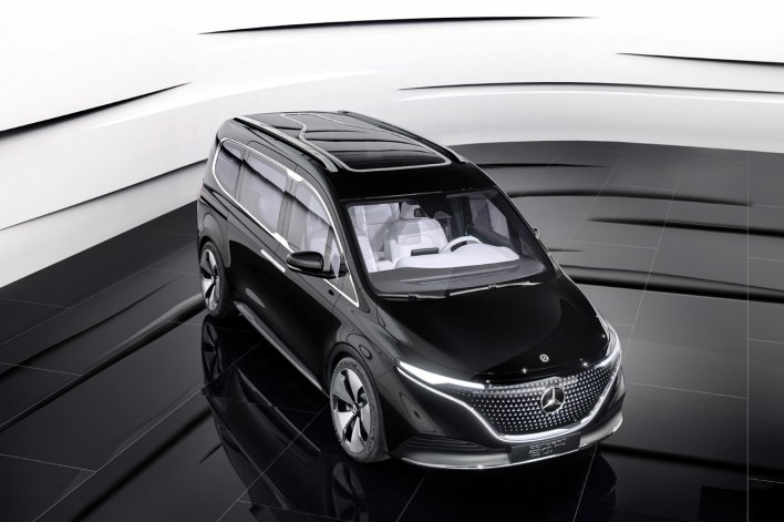 Mercedes-Benz Concept EQT T-Class Van Small People Carrier MPV Electric Cars German Engineering Modern Contemporary Design First Look Transport